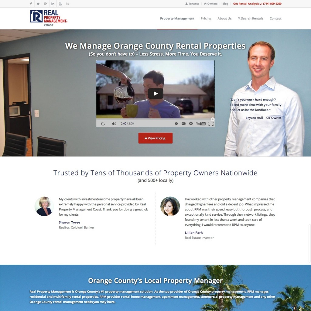 Orange County Property Management Website Design