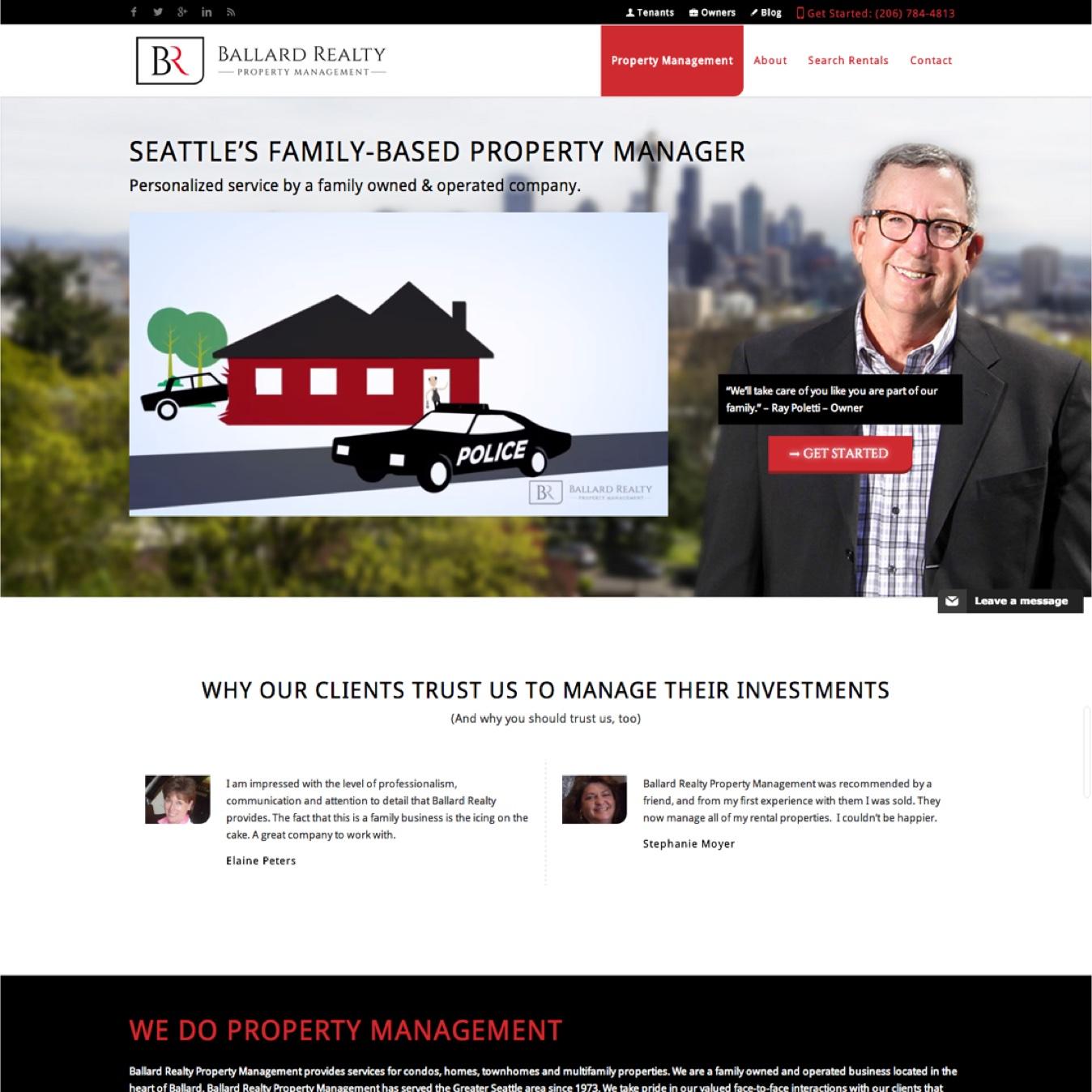 Seattle Property Management Website Design