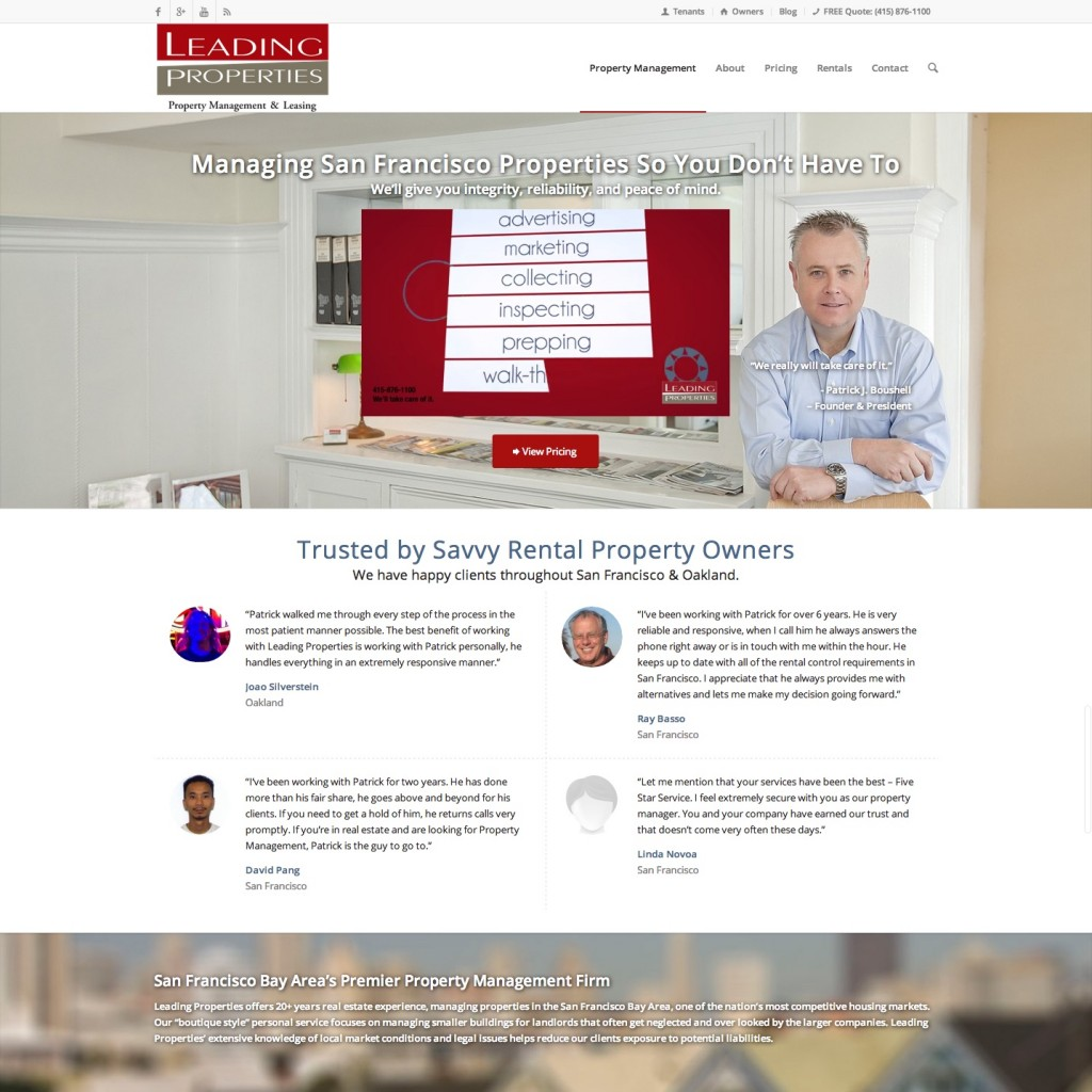 San Francisco Property Management Website Design
