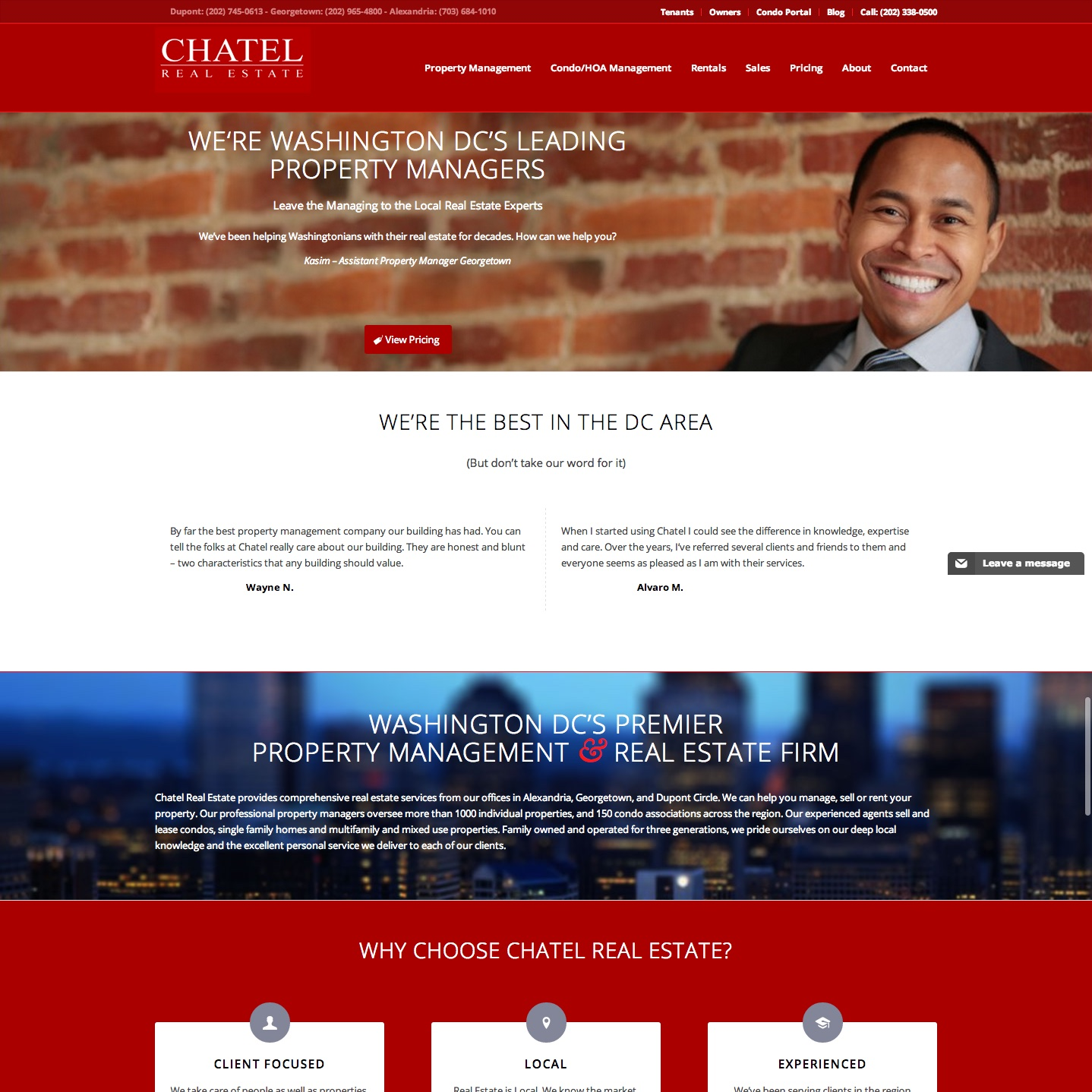 Washington DC Property Management Website Design