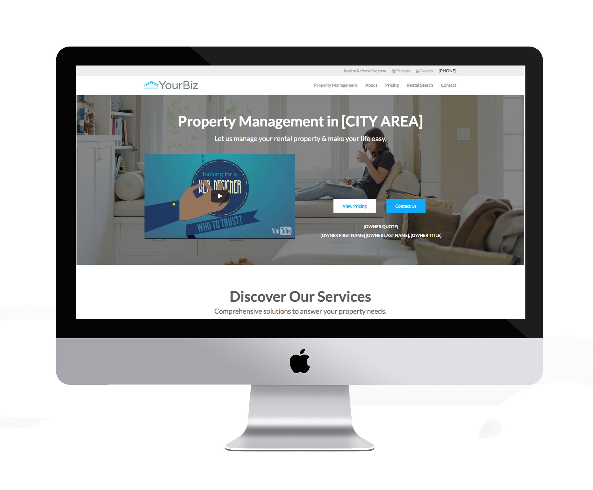 estate agent website template letting agent website template
