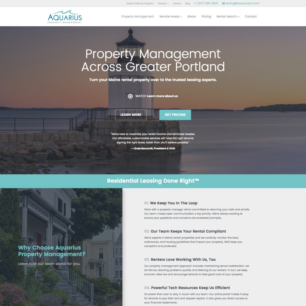 Aquarius Property Management in Portland, Maine